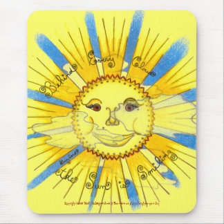 Sun in Clouds - Vertical Mousepad (yellow)