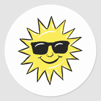 Sun in glasses sticker