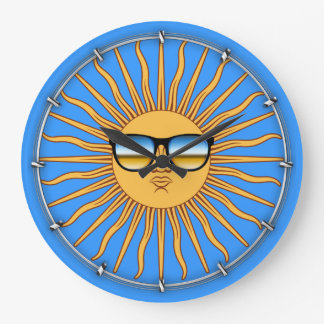 Sun in Shades Large Clock