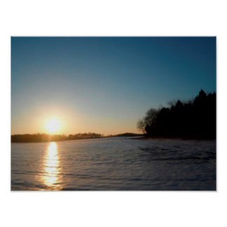 Sun in Snow Poster