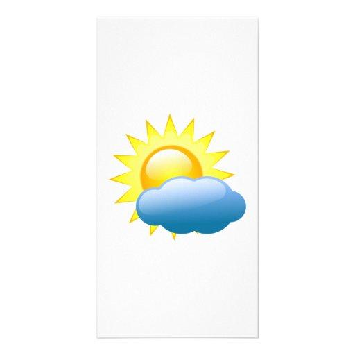 Sun in the Clouds Photo Card