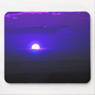 Sun in the clouds (purple) mouse pad
