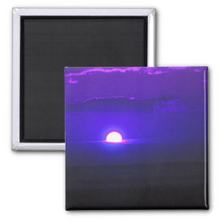 Sun in the Clouds (violet) 2 Inch Square Magnet