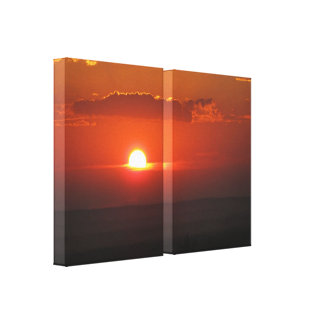 Sun in the Clouds Wrapped Canvas Stretched Canvas Print