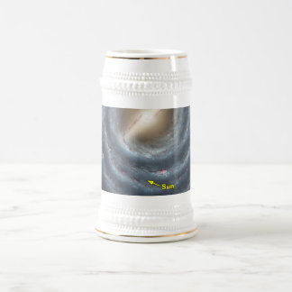 Sun in  the Milky Way NASA Beer Stein