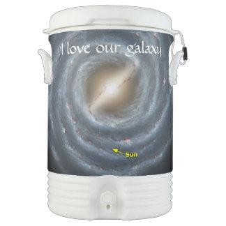 Sun in  the Milky Way NASA Beverage Cooler