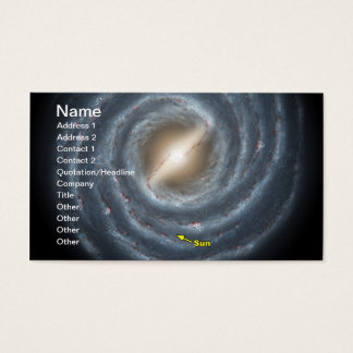 Sun in  the Milky Way NASA Business Card