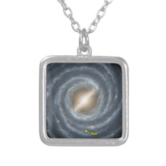 Sun in  the Milky Way NASA Silver Plated Necklace