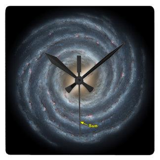 Sun in  the Milky Way NASA Square Wall Clock