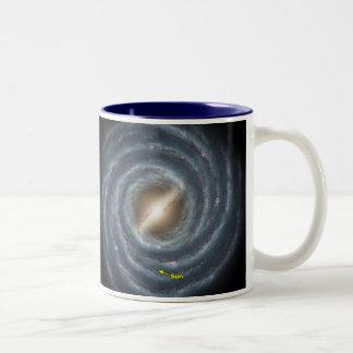 Sun in  the Milky Way NASA Two-Tone Coffee Mug