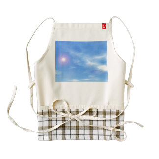 Sun in the sky background - 3D render Zazzle HEART Apron