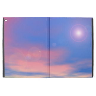"""Sun in the sunset sky background - 3D render iPad Pro 12.9"""" Case"""