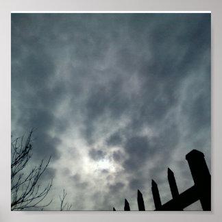 Sun in Winter Sky Poster