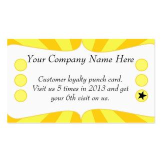 Sun irradia la tarjeta de sacador promocional del tarjetas de visita