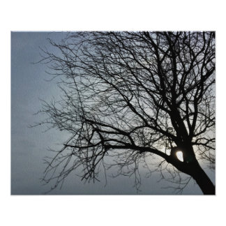 sun is hiding photo print