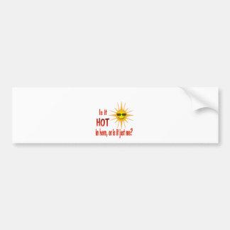 Sun: Is It Hot In Here? Bumper Sticker