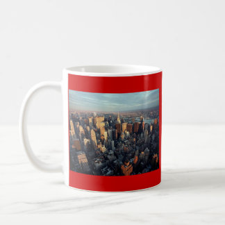 Sun Is Setting On New York City City-scape View Classic White Coffee Mug