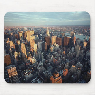 Sun Is Setting On New York City City-scape View Mouse Pads