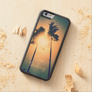 Sun is shining carved® maple iPhone 6 bumper case