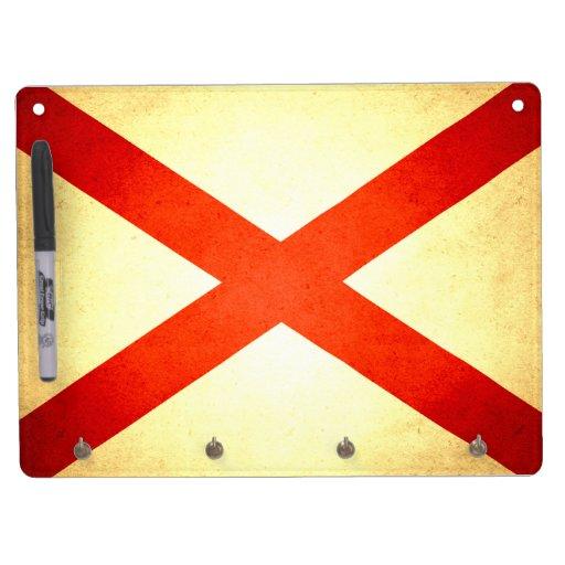 Sun kissed Alabama Flag Dry Erase Board With Keychain Holder