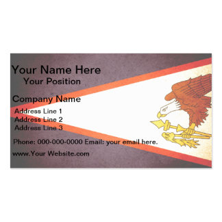 Sun kissed American Samoa Flag Double-Sided Standard Business Cards (Pack Of 100)