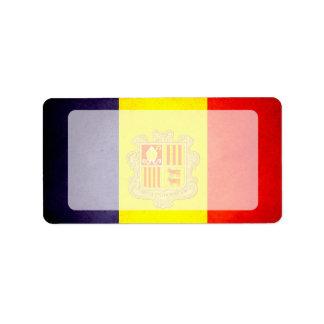 Sun kissed Andorra Flag Label