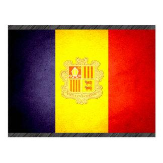 Sun kissed Andorra Flag Postcard