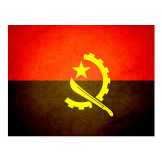 Sun kissed Angola Flag Postcard