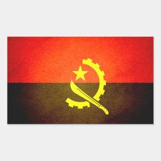 Sun kissed Angola Flag Rectangular Sticker