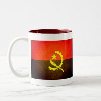 Sun kissed Angola Flag Two-Tone Coffee Mug