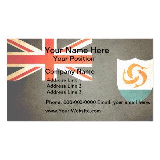 Sun kissed Anguilla Flag Business Card Templates