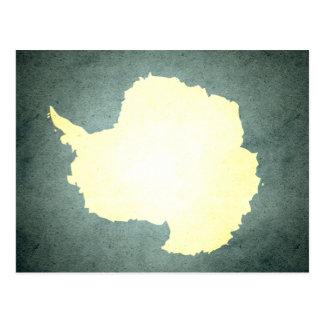 Sun kissed Antarctica Flag Post Card