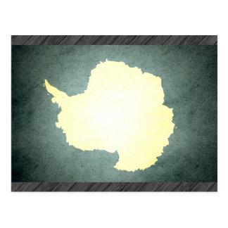 Sun kissed Antarctica Flag Postcard