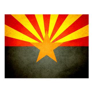 Sun kissed Arizona Flag Postcard