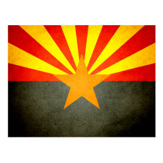 Sun kissed Arizona Flag Postcard