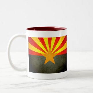 Sun kissed Arizona Flag Two-Tone Coffee Mug