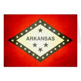 Sun kissed Arkansas Flag Card