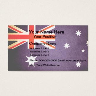 Sun kissed Australia Flag Business Card