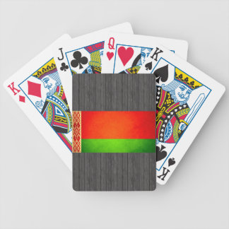 Sun kissed Belarus Flag Bicycle Playing Cards
