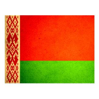 Sun kissed Belarus Flag Postcard