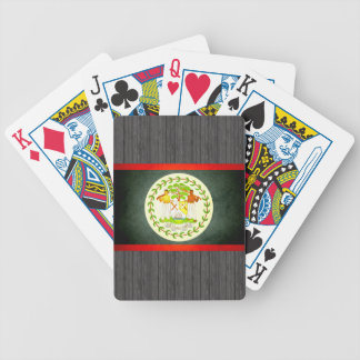 Sun kissed Belize Flag Bicycle Playing Cards