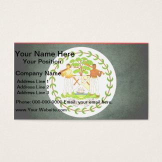 Sun kissed Belize Flag Business Card