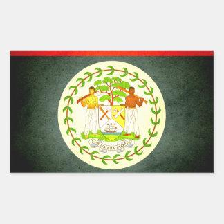 Sun kissed Belize Flag Rectangular Sticker
