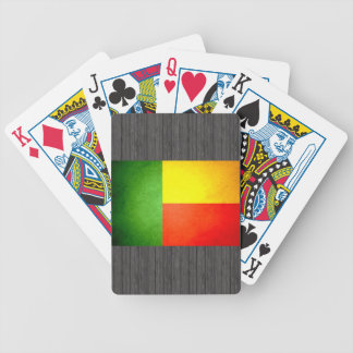 Sun kissed Benin Flag Bicycle Playing Cards