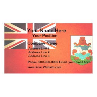 Sun kissed Bermuda Flag Business Card