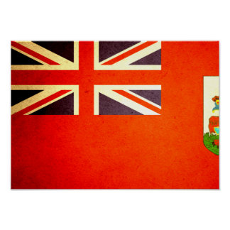 Sun kissed Bermuda Flag Poster