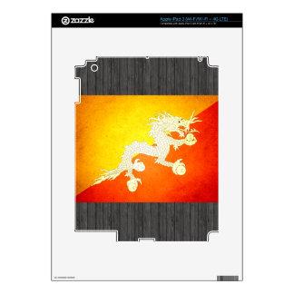 Sun kissed Bhutan Flag iPad 3 Skin