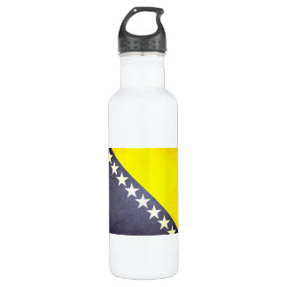 Sun kissed Bosnia Herzegovina Flag Water Bottle