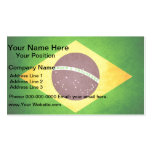Sun kissed Brazil Flag Business Card Template