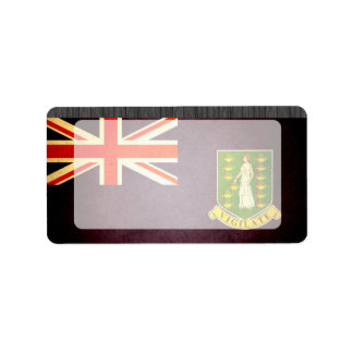Sun kissed British Virgin Islands Flag Label